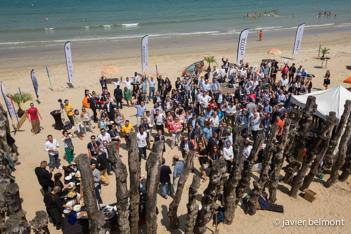 Start-up on the beach Saint-Malo 2018.